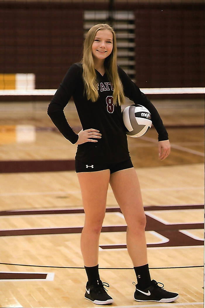 Faith Lutheran's Kyrie Lorfing is a member of the Nevada Preps all-state girls volleyball team.