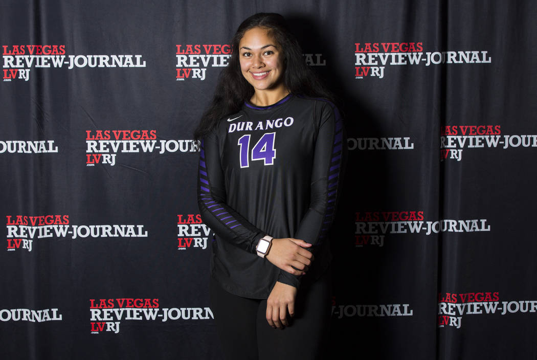 Durango's Tehani Faitau is a member of the Nevada Preps all-state girls volleyball  team.