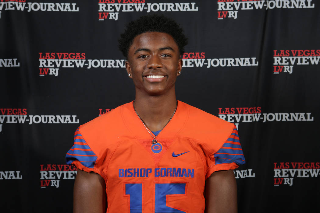 Bishop Gorman's Kyu Kelly is a member of the Nevada Preps all-state football team.