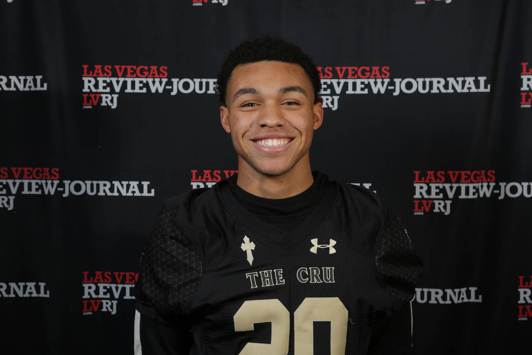 Faith Lutheran's Gregory Oliver is a member of the Nevada Preps all-state football team.