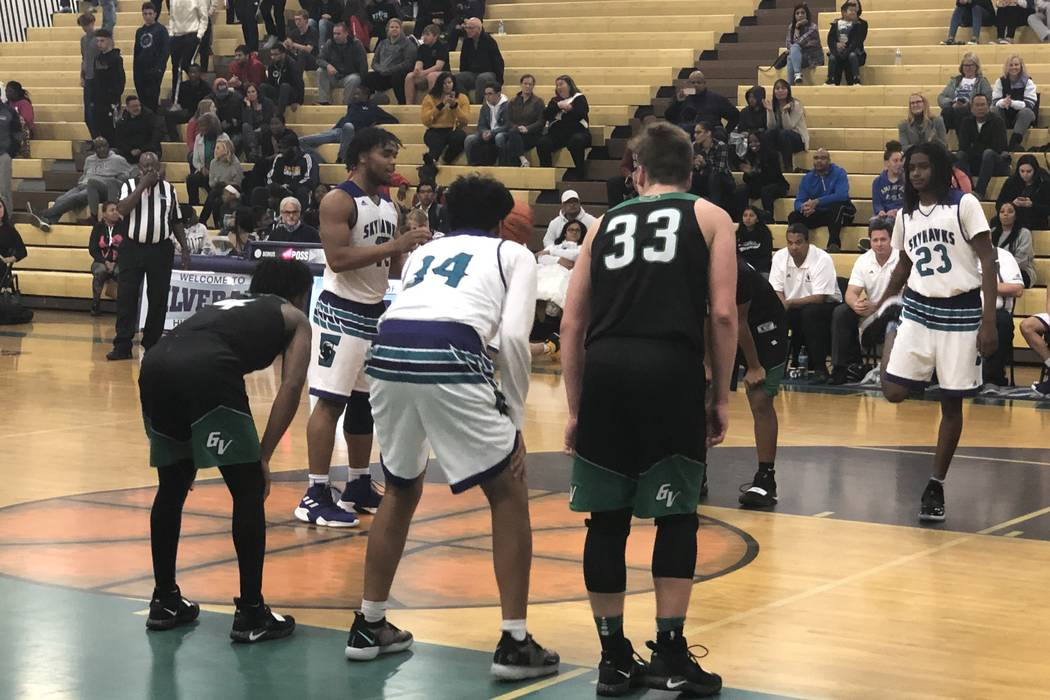 Silverado junior guard Martel Williams prepares to shoot a free throw in the fourth quarter of an 85-74 victory over Green Valley at Silverado High School on Wednesday, Feb. 13, 2019. Sam Gordon/L ...