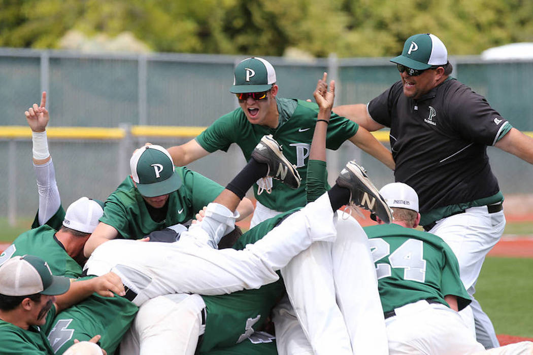 Palo Verde hopes to defend its Class 4A state baseball title this season. Cathleen Allison/Las Vegas Review-Journal