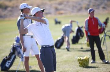 Arbor View's Hazen Newman tied for second in last year's Class 4A state tournament. Chase Stevens/Las Vegas Review-Journal @csstevensphoto