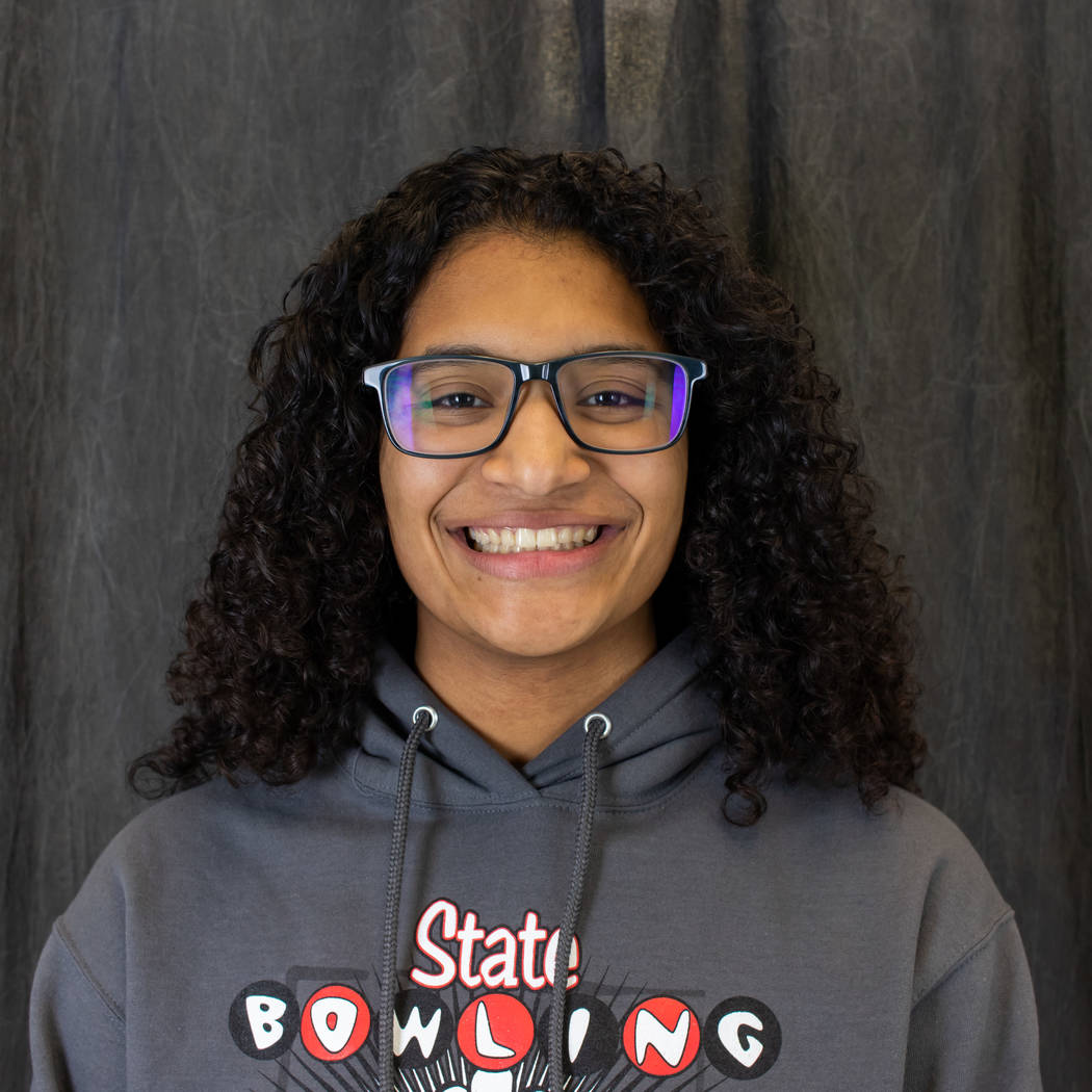 Basic's Olivia Lampkin is a member of the Nevada Preps all-state bowling team.