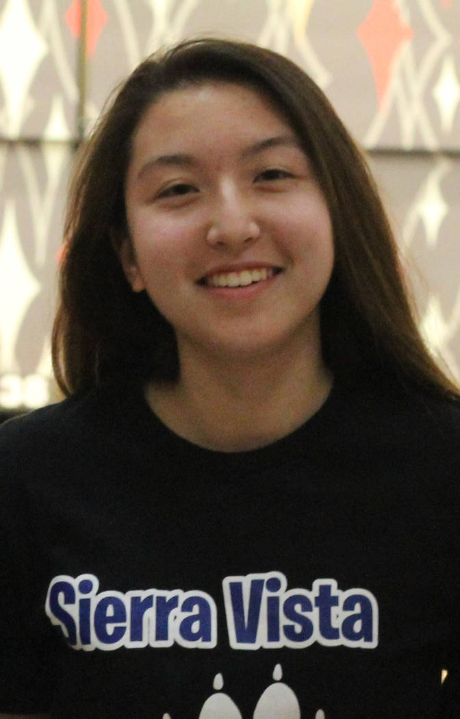 Sierra Vista's Vanessa Fuzie is a member of the Nevada Preps all-state bowling team.