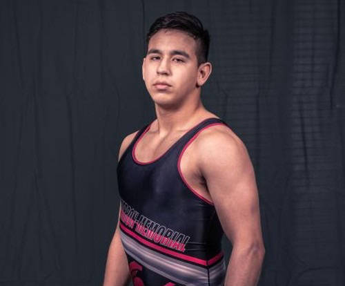 Cimarron-Memorial's Daniel Rodriguez is a member of the Nevada Preps all-state wrestling team.