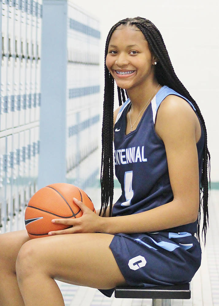 Centennial's Taylor Bigby is a member of the Nevada Preps all-state girls basketball team