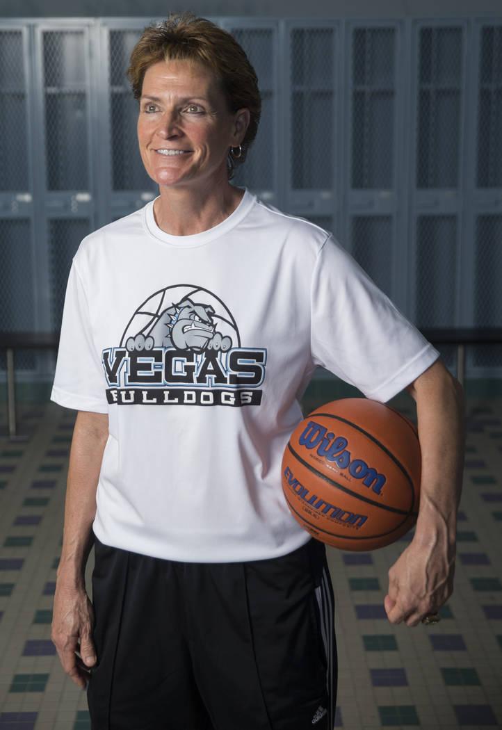 Centennial High School basketball coach Karen Weitz on Thursday, June 14, 2018, at Centennial H ...