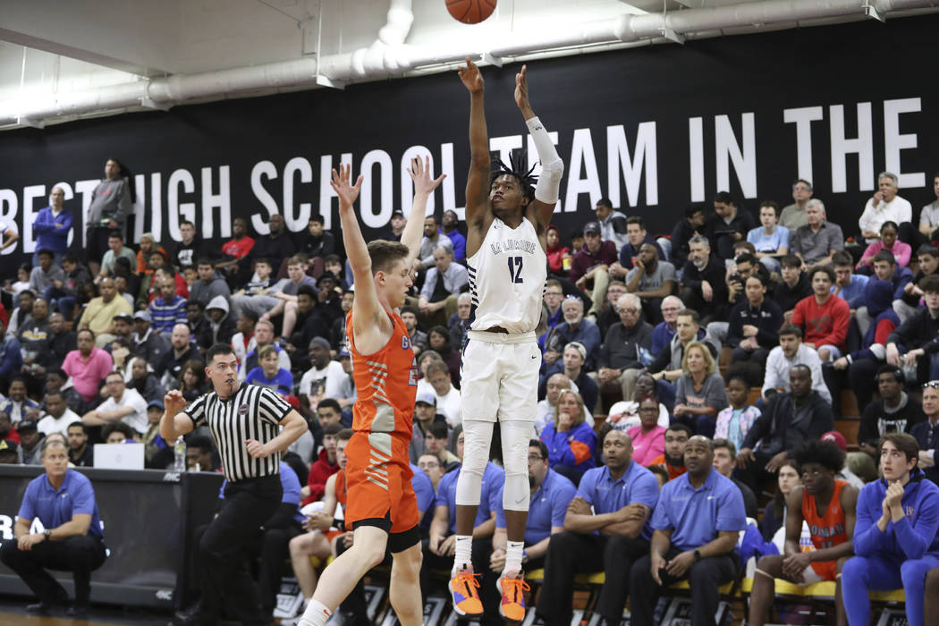 1192020f5a21 La Lumiere s Keion Brooks  12 in action against Bishop Gorman in a Boys  Quarterfinal game