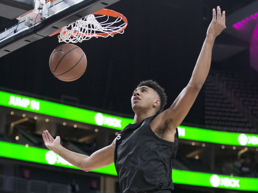 Armando Bacot Jr. (5) dunks in the first half during the Jordan Brand Classic All-American game ...