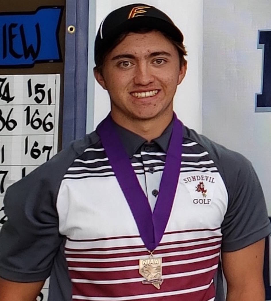 Eldorado's Matthew Manganello is a member of the Nevada Preps all-state boys golf team.