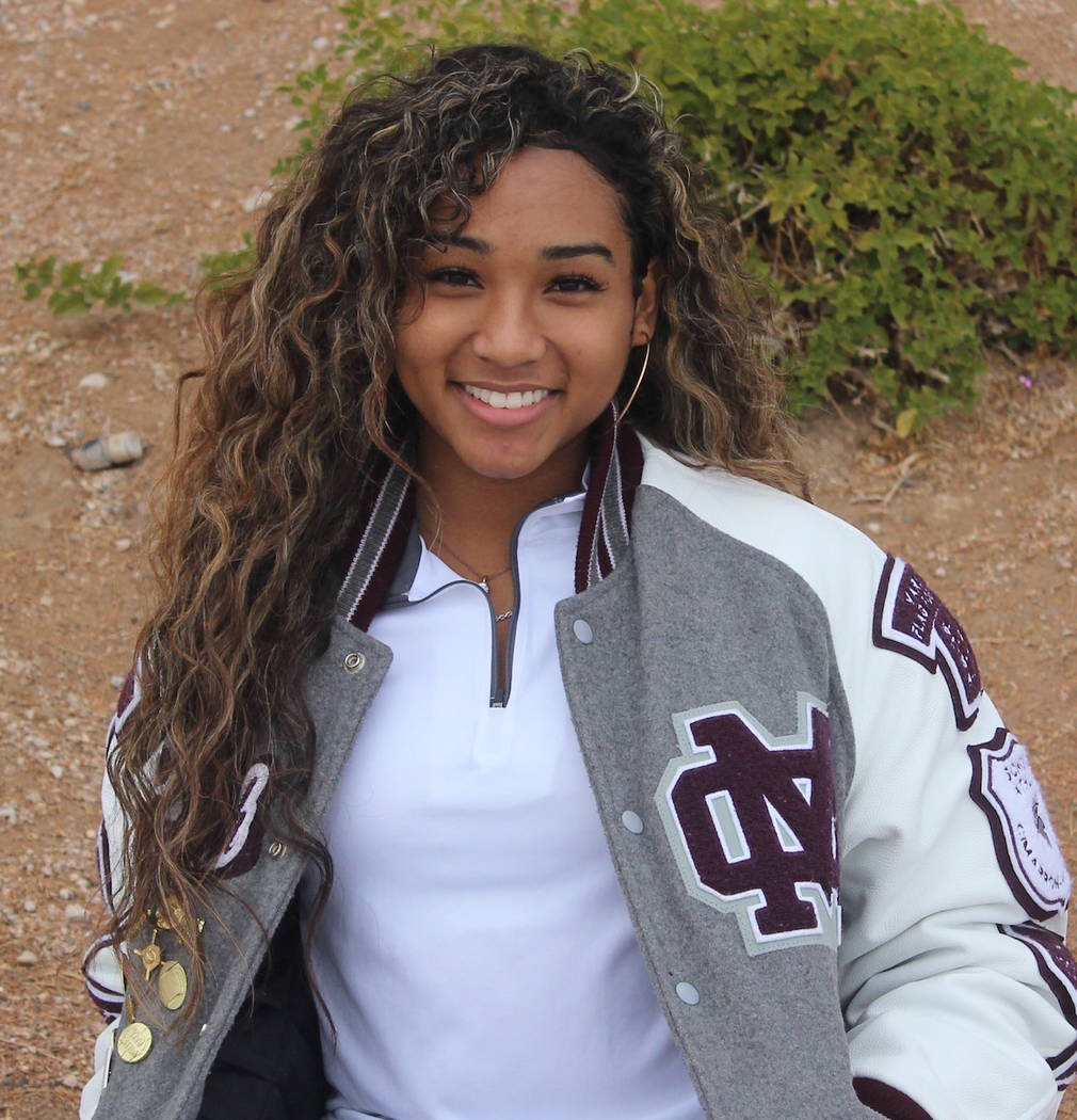 Cimarron-Memorial's Mya'Liah Bethea is a member of the Nevada Preps all-state softball team.