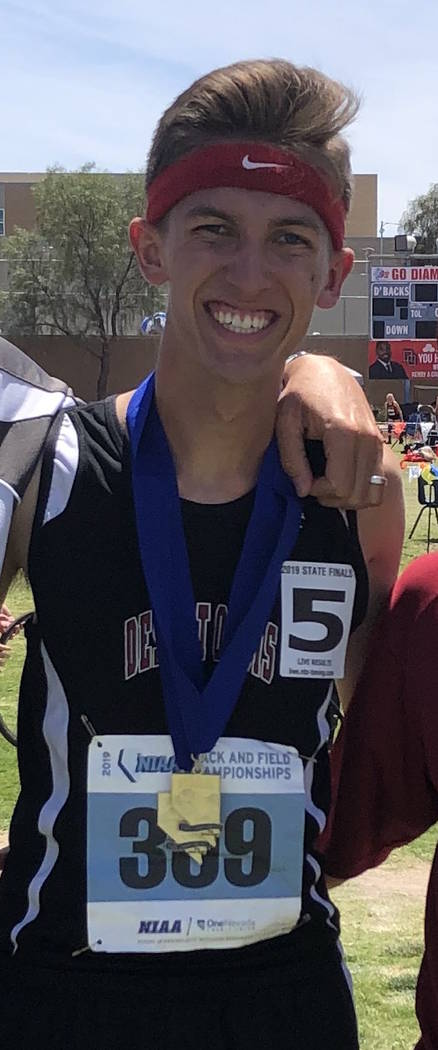 Desert Oasis' Conner Nicholas is a member of the Nevada Preps all-state boys track team.