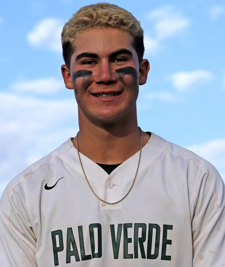 Palo Verde's Josiah Cromwick is a member of the Nevada Preps all-state baseball team. (Heidi Fa ...